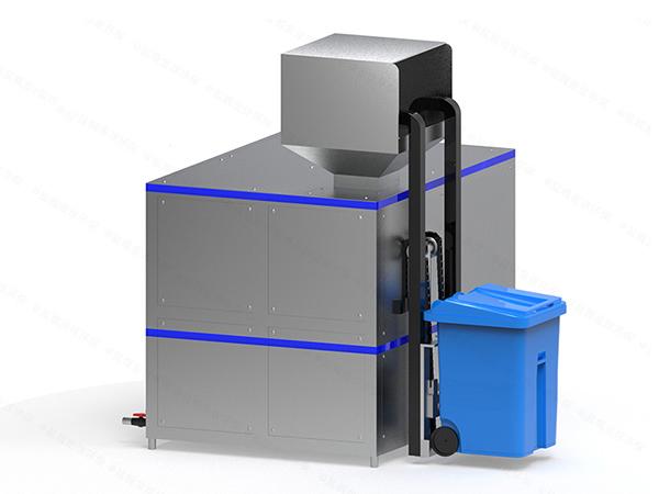 10吨机械式厨余湿垃圾处理机工艺流程图详解